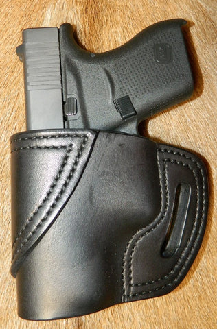 Gary C's Avenger Left Hand Holster for Glock G43, Black. XBB-024