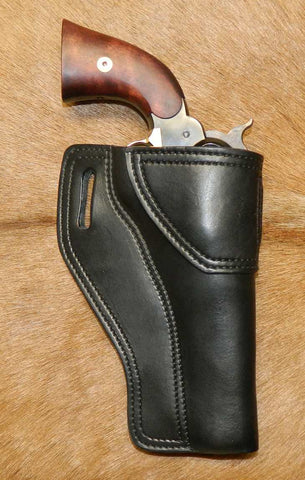 "Gary C's Avenger Right Hand Holster for Colt 1858 Army, Sheriff's Model BLACK POWDER 5-1/2"" & Similar Clones, Black Leather. ABP-004"