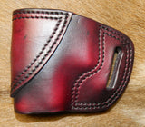 Gary C's Avenger Left Hand Holster for Glock G43, Dark Cherry. XBB-012