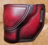 "Gary C's Avenger Left Hand Holster for S & W L Frame 3"" Revolver, Dark Cherry Leather  MM-013"