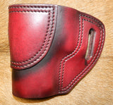"Gary C's Avenger Left Hand Holster for Sig Sauer P220 Carry 3.9"". Dark Cherry Leather. P-027"