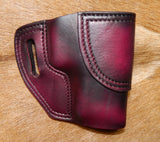 "Gary C's Avenger Right Hand Holster for Sig Sauer P220 Carry 3.9"". Dark Cherry Leather. P-039"
