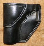 "Gary C's Avenger Left hand Holster for Ruger NM Blackhawk 3-3/4"" Revolver.  Black Leather W-057"