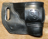 "Gary C's Avenger Left Hand Holster for S & W L Frame 2-1/2"" Revolver, Black Leather  LL-028"