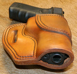 Gary C's Avenger Right Hand Holster for Glock G20/G21, Antiqued Golden Brown. U-012