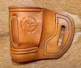 Gary C's Avenger Right Hand Holster for Glock G43, Antiqued Golden Brown . XBB-025