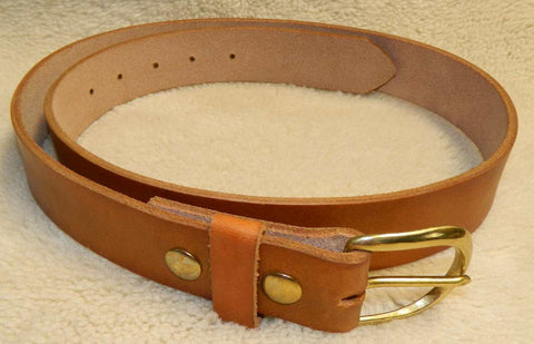 "Leather Belt, Gun or Work Belt, 11-12 oz single layer heavy tooling leather, 1-1/2"" wide, Size 40 in Antiqued Golden Brown. **See Sizing in DESCRIPTION**  LG-047"