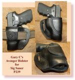 Gary C's Avenger Right Hand Holster for Sig Sauer P239.  Black Leather ST-016