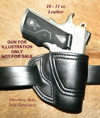"Gary C's Avenger Right Hand Holster for Colt 1911 Defender 3"" & Similar 1911s, Black Leather. D-041"
