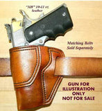 "Gary C's Avenger Left Hand Holster for Colt 1911 Combat Commander 4.25"" & Similar 1911s. Antiqued Golden Brown Leather. C-034"