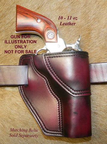 "Gary C's Avenger Right hand Holster for Ruger NM Vaquero 3-3/4"" Revolver.  Dark Cherry Leather Q-088"