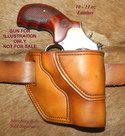 "Gary C's Avenger Right Hand Holster for S & W L Frame 3"" Revolver, Antiqued Golden Brown Leather  MM-030"