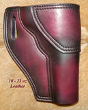 "Gary C's Avenger Right hand Holster for Ruger NM Vaquero 4-5/8"" Revolver.  Dark Cherry Leather Q-083"
