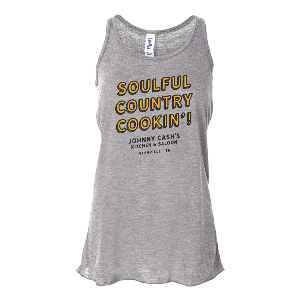 Johnny Cash's Soulful Country Cookin' Ladies Tank