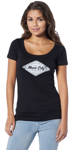 Logo Scoop Ladies Tee