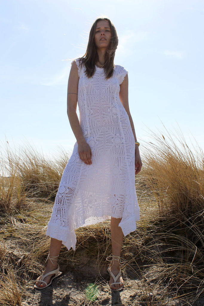 HACHE, Godet Dress, White