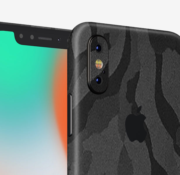 Black Shadow iPhone X Skin