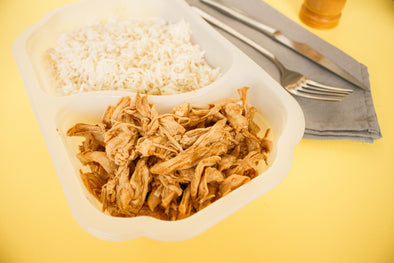 Pulled chicken breast con arroz basmati (LF1) lifestyle Feedness Meals