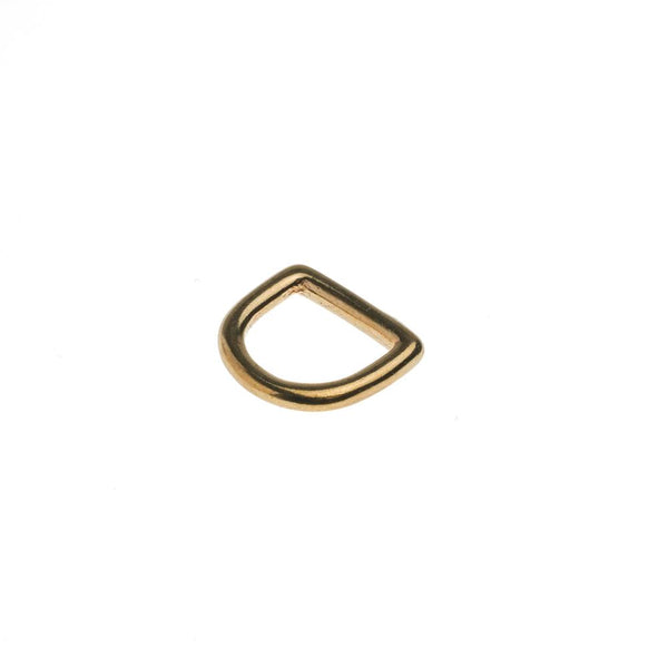 Solid D-Ring - 16mm BRASS