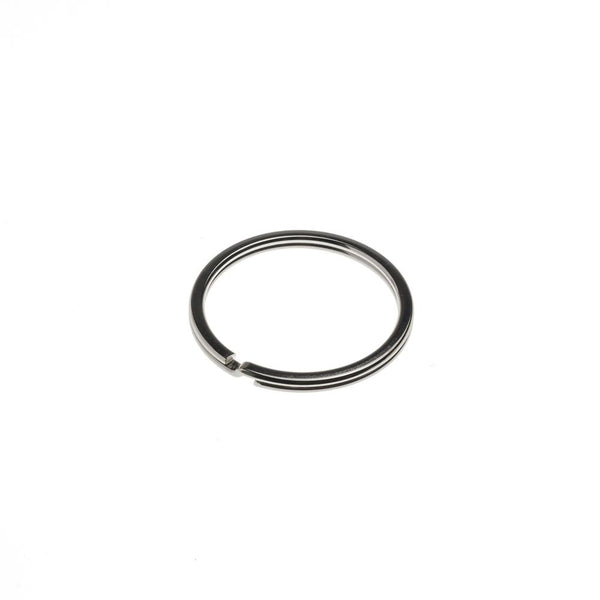 Flat Split Ring  (thin) - 25mm Nickel Plate