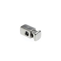 Drawstring Toggle Cord End - 6mm Nickel