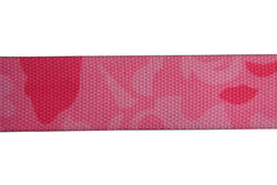 Webbing  40mm Pink Camo mix Fabric