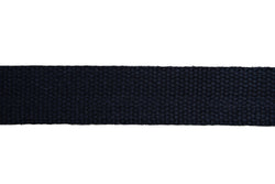 Webbing  30mm Black Cotton