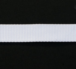 Webbing White 25mm Nylon per meter