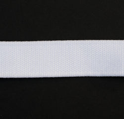 Webbing White 25mm Mixed Fabric