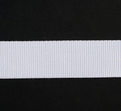 Webbing White 38mm Nylon  per meter