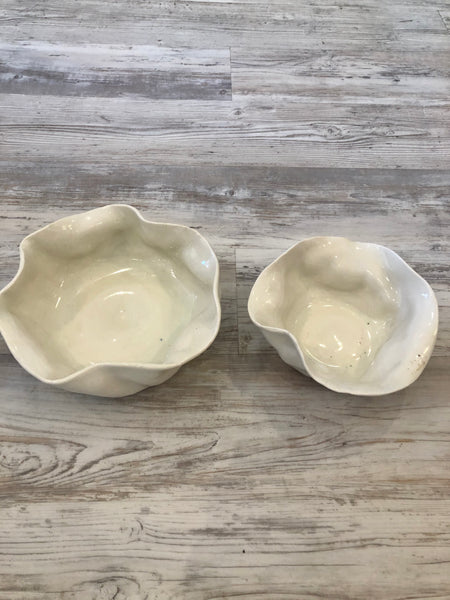 White Small Abstract Bowl