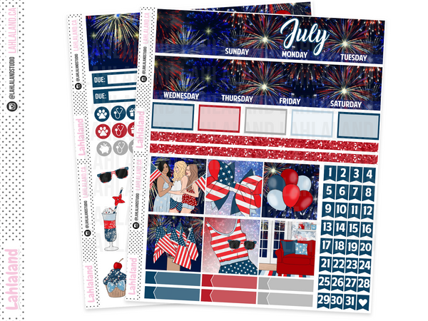 Classic Happy Planner - July Monthly Kit