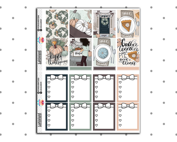 Erin Condren - Give Thanks Weekly Kit