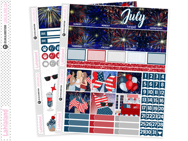Standard Vertical - July Monthly Kit