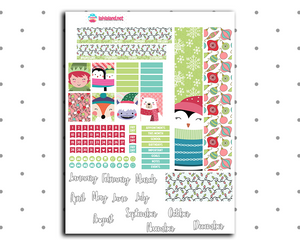 Mini Happy Planner - Holly Jolly Monthly Kit