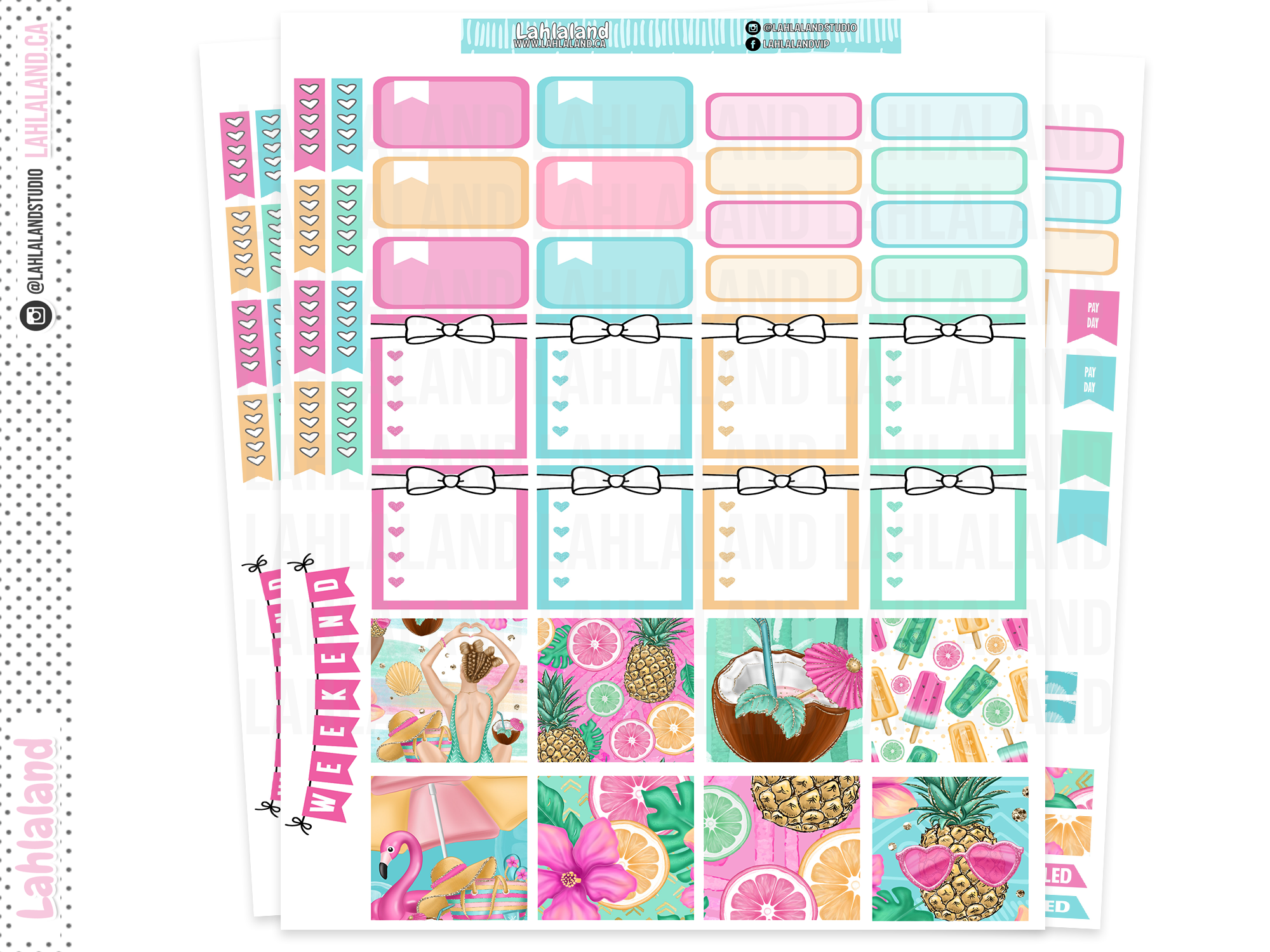 Mini Happy Planner - Fun In The Sun Weekly Kit