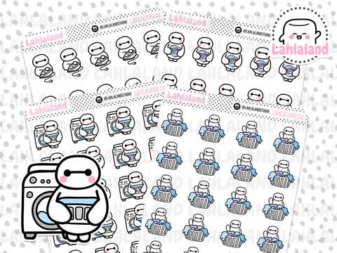 Laundry Stickers - Baymax
