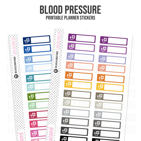 Blood Pressure - Functional Stickers