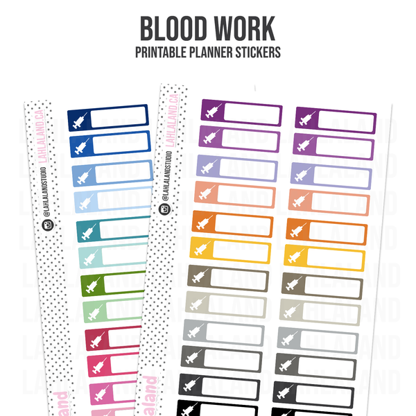 Blood Work - Functional Stickers