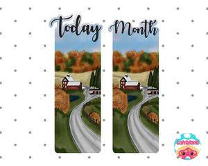 Bushels Of Autumn Printable Bookmark