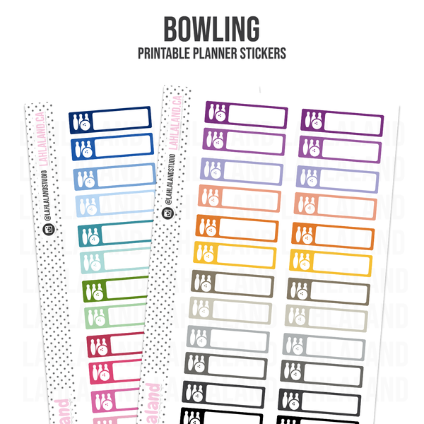 Bowling - Functional Stickers