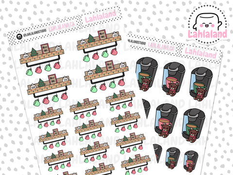 Christmas Coffee Bar Stickers