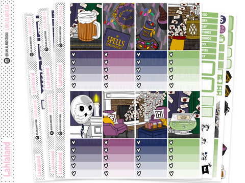 Classic Happy Planner - Wizard Party Weekly Kit