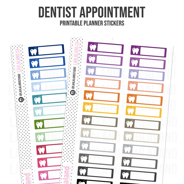 Dentist Appointment - Functional Stickers