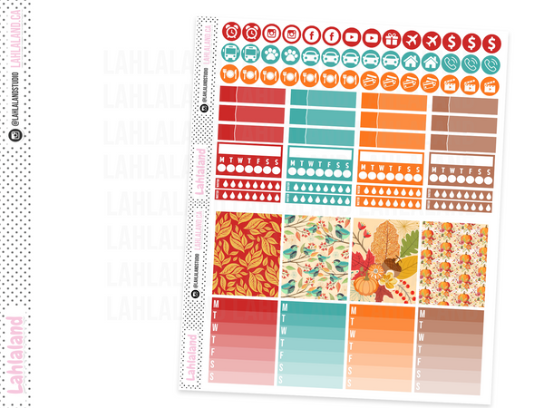 Erin Condren - Fall Harvest Weekly Kit
