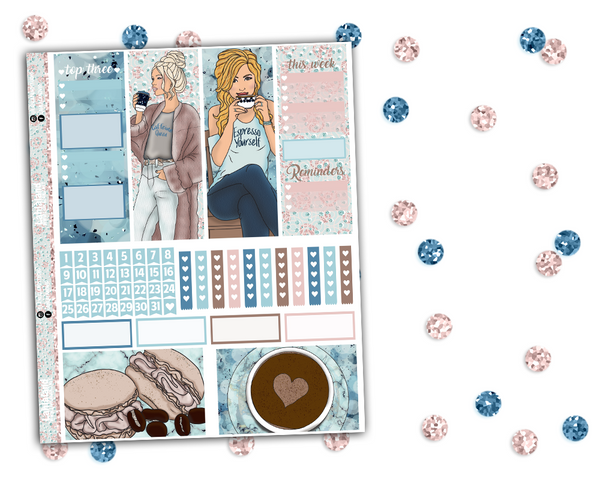 Classic Happy Planner - Coffee Daze Weekly Kit