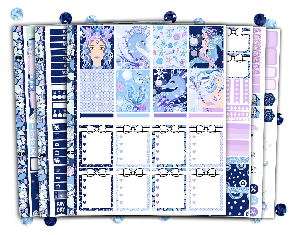 Erin Condren - Glacier Queen Weekly Kit