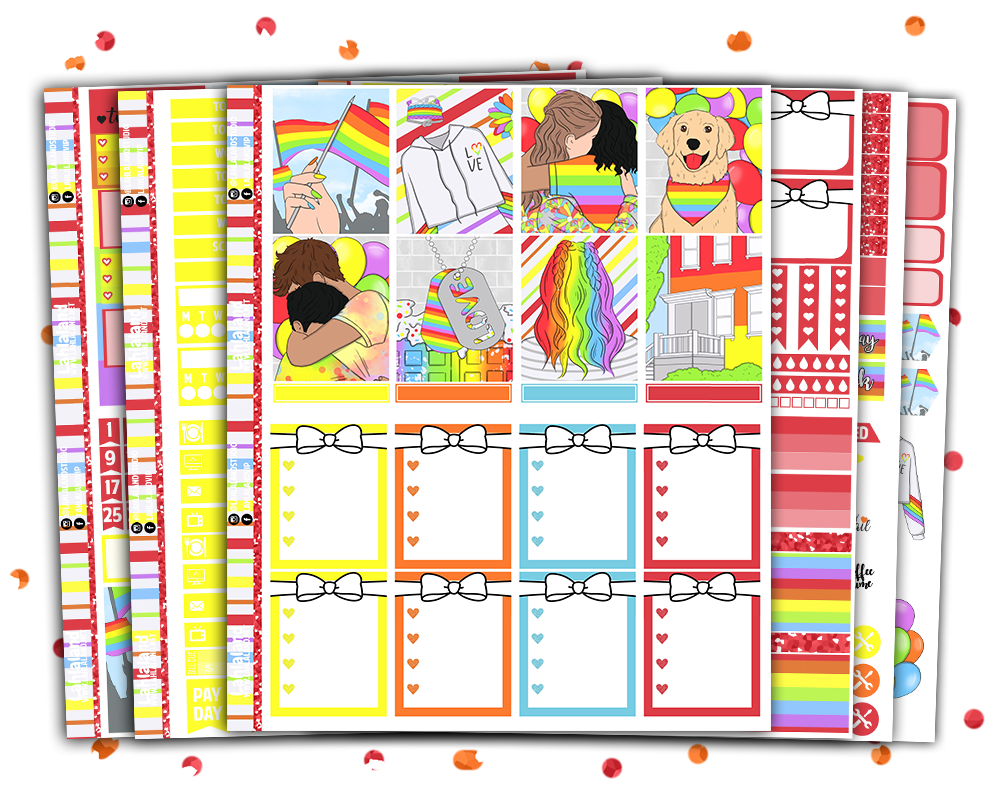 Erin Condren - Pride Weekly Kit