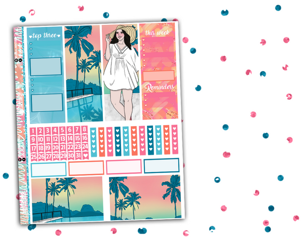 Classic Happy Planner - Poolside Weekly Kit