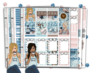 Erin Condren - Coffee Daze Weekly Kit